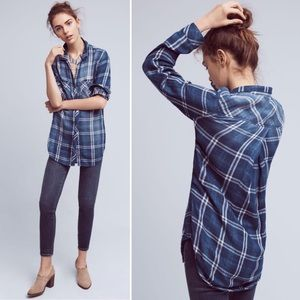 Cloth & Stone Brecken Blue Plaid Button Down